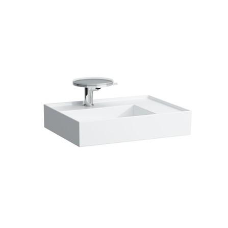 Laufen - Kartell - lavabo à poser - rectangulaire - plateau à droite