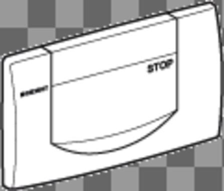 Geberit - Commande frontale - marche/arrêt - blanc