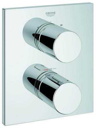 Grohe - Grohtherm - set de finition bain/douche - modèle rectangulaire